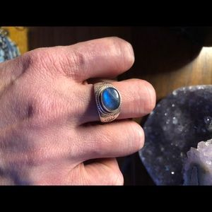 Jewelry - Blue Moonstone Ring 925